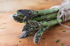 Bunch fresh green asparagus Royalty Free Stock Photography