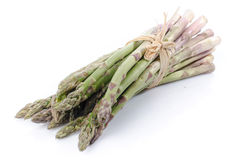 Bunch of fresh green asparagus Stock Images