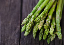 Bunch of fresh green asparagus spears Stock Photos