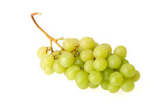 Bunch of fresh green grapes Royalty Free Stock Photos