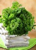 Bunch of fresh green organic parsley Royalty Free Stock Photos