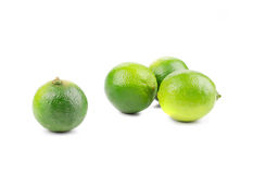 Bunch of fresh lime close up. Royalty Free Stock Photos