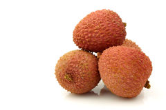 Bunch of fresh lychees Stock Image