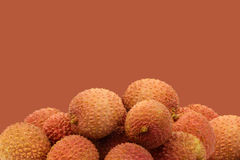 Bunch of fresh lychees Royalty Free Stock Images