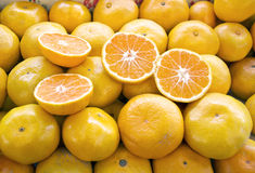 Fresh mandarin Stock Photography