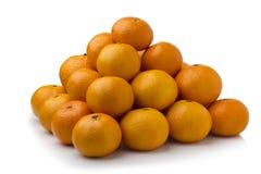 Bunch of fresh mandarin oranges on market Royalty Free Stock Photography