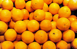 Bunch of fresh mandarin oranges on market Stock Photo