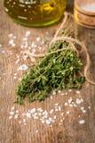 Bunch of fresh organic thyme Stock Photos