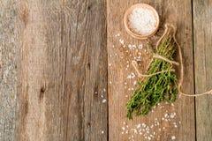 Bunch of fresh organic thyme Royalty Free Stock Photos