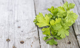 Bunch of fresh Parsley Stock Photo