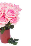 Bunch  of fresh pink roses Royalty Free Stock Images