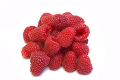 Bunch of fresh raspberries Royalty Free Stock Images