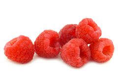 Bunch of fresh raspberries Royalty Free Stock Image