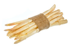 Bunch of fresh raw white asparagus isolated. Bunch of fresh raw white asparagus isolated Stock Image
