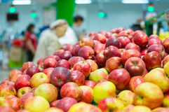 Bunch of fresh red apples Stock Photography