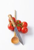 Bunch of fresh red tomatoes Stock Images