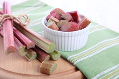 Bunch of fresh rhubarb Royalty Free Stock Photo