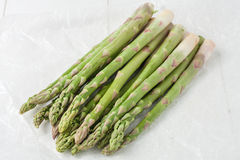 Bunch of fresh ripe asparagus Stock Image