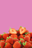 Bunch of fresh strawberries Royalty Free Stock Photos