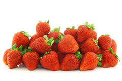Bunch of fresh strawberries Royalty Free Stock Image