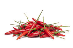 Bunch of fresh tabasco peppers Royalty Free Stock Image