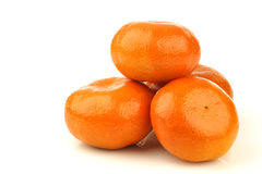 Bunch of fresh tangerines Stock Images