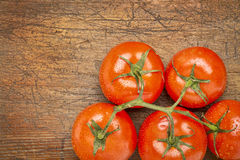 Bunch of fresh tomatoes Stock Photos