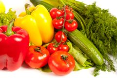 Bunch of fresh vegetables Royalty Free Stock Image