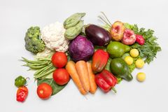Bunch of fresh vegetables. Environmentally friendly and safe. A variety of vitamins and mineral nutrients Stock Photos