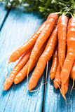 Bunch of fresh vibrant carrots from local market Royalty Free Stock Photos