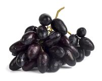 A bunch of fresh wet blue grapes royalty free stock photos