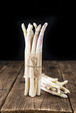 Bunch of fresh white Asparagus (close-up shot) Stock Photo