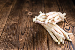 Bunch of fresh white Asparagus (close-up shot) Royalty Free Stock Photos