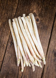 Bunch of fresh white Asparagus (close-up shot) Royalty Free Stock Images