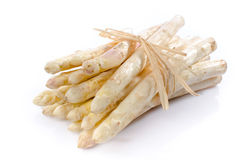 Bunch of fresh white asparagus Royalty Free Stock Photos