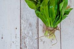 Bunch of wild garlic Stock Photo