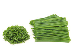 Bunch of freshly cut green chive Stock Photo