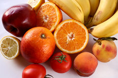 Bunch of fruits. Isolated bunch of fruits royalty free stock photos