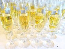 Bunch of glasses with champagne Stock Photography