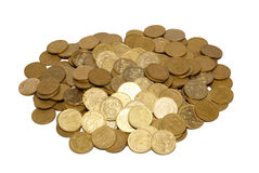 Bunch of gold coins. Royalty Free Stock Images