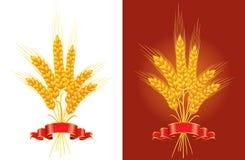 Bunch of golden wheat stock illustration