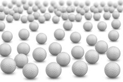 Bunch of golf balls Stock Photo