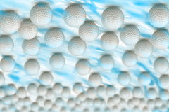 Bunch of golf balls Stock Photos
