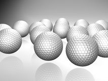 Bunch of golf balls Royalty Free Stock Photo