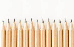 Bunch of good sharpened graphite pencils Stock Images