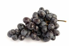 Bunch of grapes. On a white background Royalty Free Stock Photo
