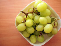 Bunch of grapes. A bunch of grapes in a plastic box Royalty Free Stock Photo