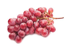 Bunch of grapes. Bunch of red grapes on white background closeup Royalty Free Stock Images