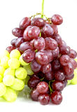 Bunch of grapes. Bunch of red and green grapes in front of a white background Royalty Free Stock Images
