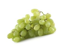 Bunch of grapes. Isolated over white background stock photography